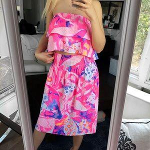 LILLY PULITZER 2-Piece Pink Puple Ruffle Dress! 💕